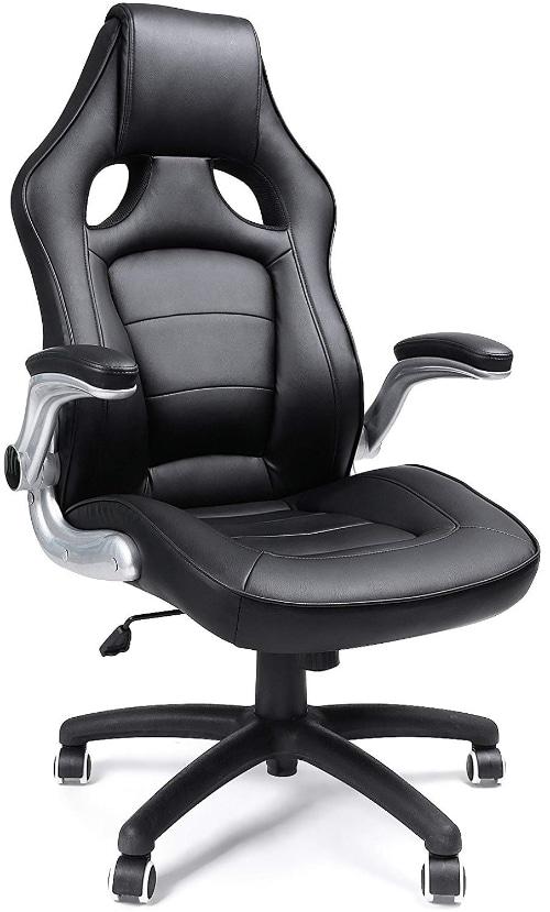 songmics fauteuil de bureau hauteur réglable simili cuir siège de bureau obg62b